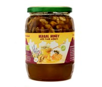 Organic Raw Herbal Honey with Walnuts (870g)