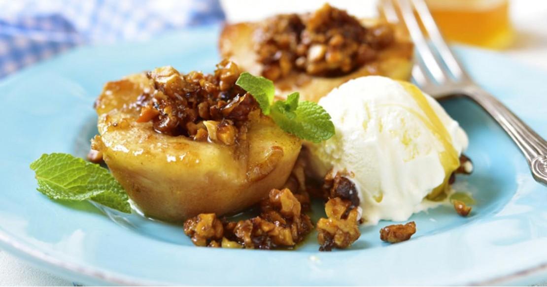 Geroosterde peren met honing en walnoten
