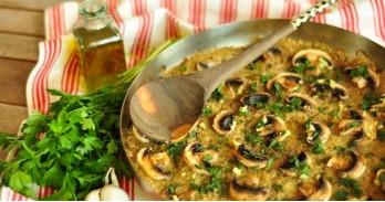 Quinoa met amaranth en champignons